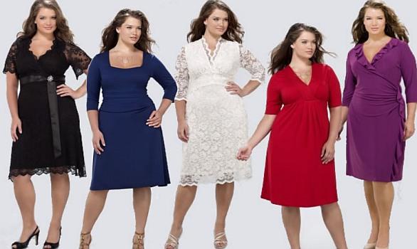 Фасоны платьев для полных женщин 2012