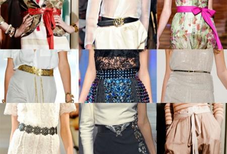 Модные женские ремни в 2012 году