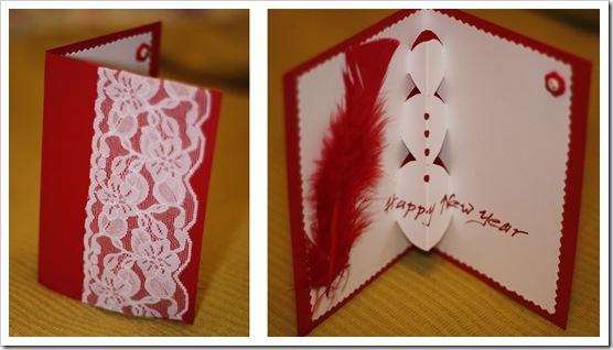 Как сделать красивую открытку своими руками на новый год