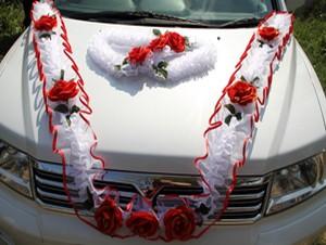 Украшение для машины на свадьбу своими руками