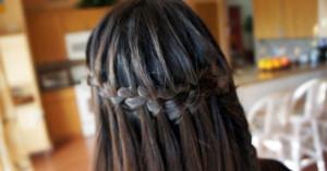Черные волосы фото косички
