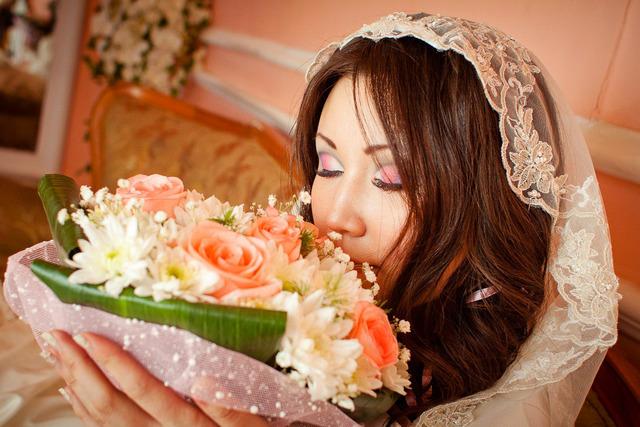 свадебные прически и макияж в фотошопе