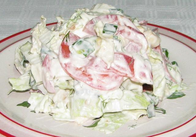 Простой салат из пекинской капусты рецепты простые и вкусные