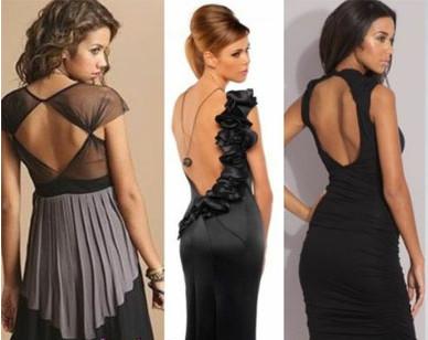 Платье с открытой спиной мода