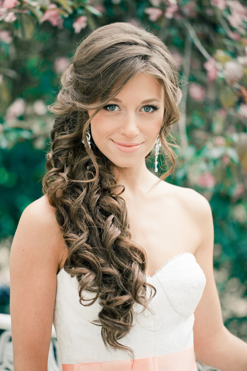 Прически локоны на длинные волосы фото на венчание