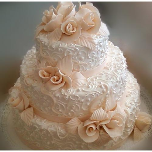 По запросу свадебный торт с кремом