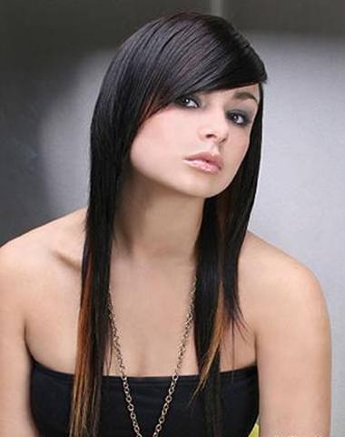 Прически для девушки с длинными волосами с челкой фото
