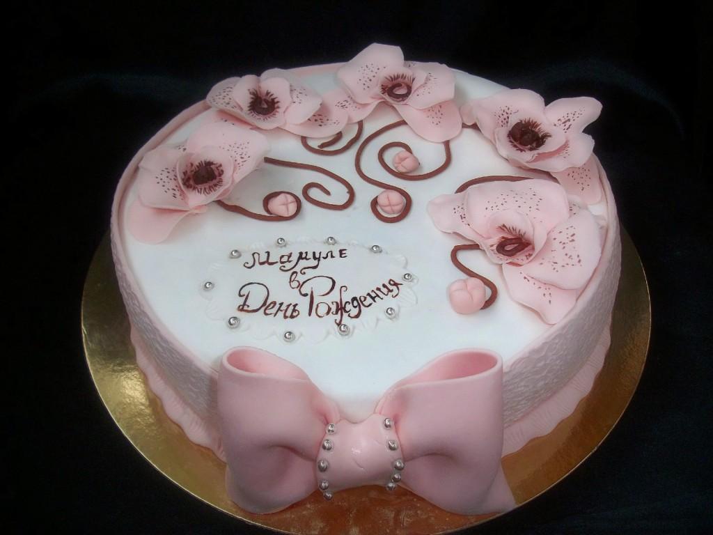 Украсить торт из мастики для мамы