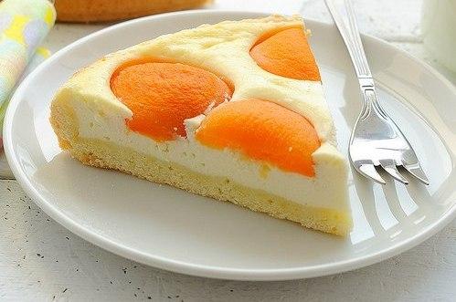 Десерты в домашних условиях – творожной пирог с абрикосами