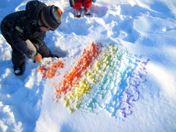 Как сделать снег из воды