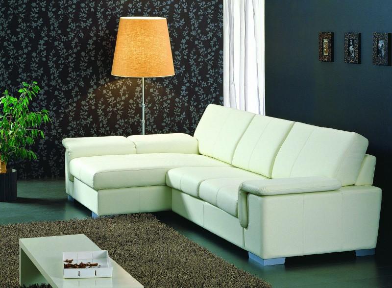 Выбираем угловой кожаный диван