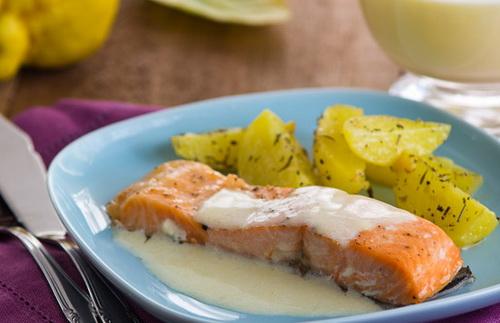 Белый соус рыбе рецепт фото