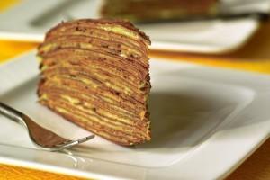 Вкуснейший блинный торт Крепвиль