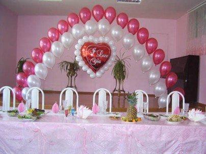 Как стильно украсить свадебный зал шарами: советы 2