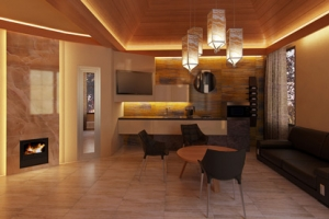 Внутренний дизайн бани